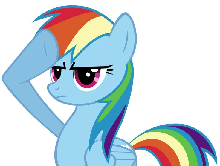 rainbow dash | Rainbow Dash Salute