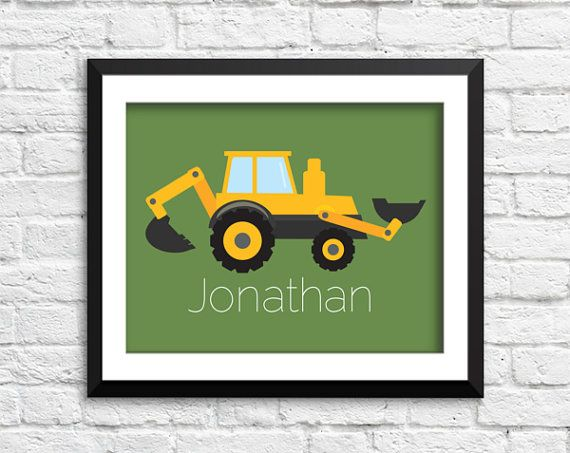Baby boy tractor farm, farm bedroom Art, Kids Decor, Nursery Wall Art, Babies Art, Children print, construction print, truck print