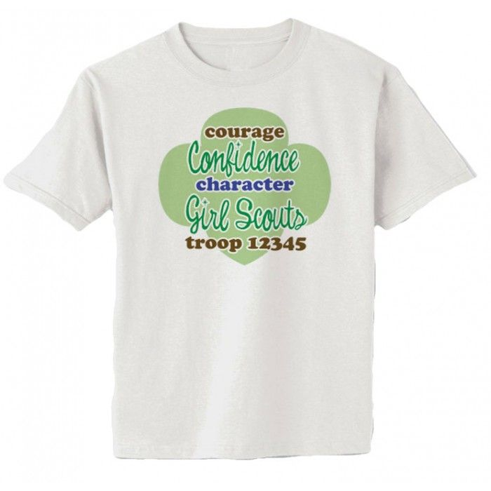 Girl scout troop shirts customizable courage trefoil for Girl scout troop shirts