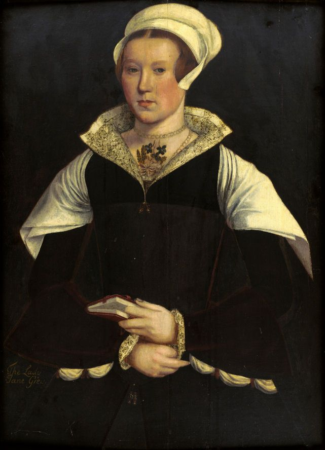 Mary Nevill, Lady Dacre, circa 1545–1549  by Unknown Artist  Oil on wood panel  29 in. x 21.25 in.  Private Collection