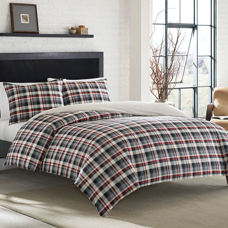 eddie lewis set plaid bedding bed free bauer comforter product overstock bath shipping today
