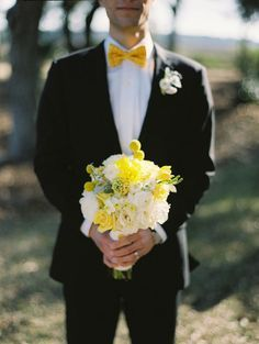 tux shirt yellow bowtie - Aegeus