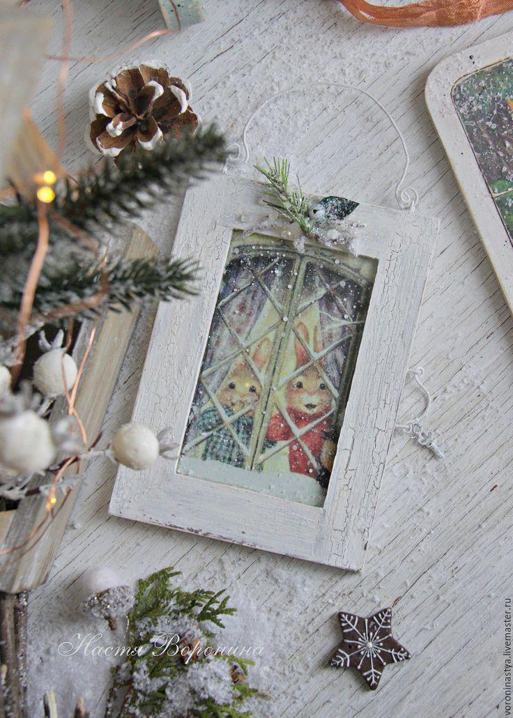 Купить Панно Снежок - зима, Снег, сказка, сьюзан виллер, susan wheeler, окно, окошко