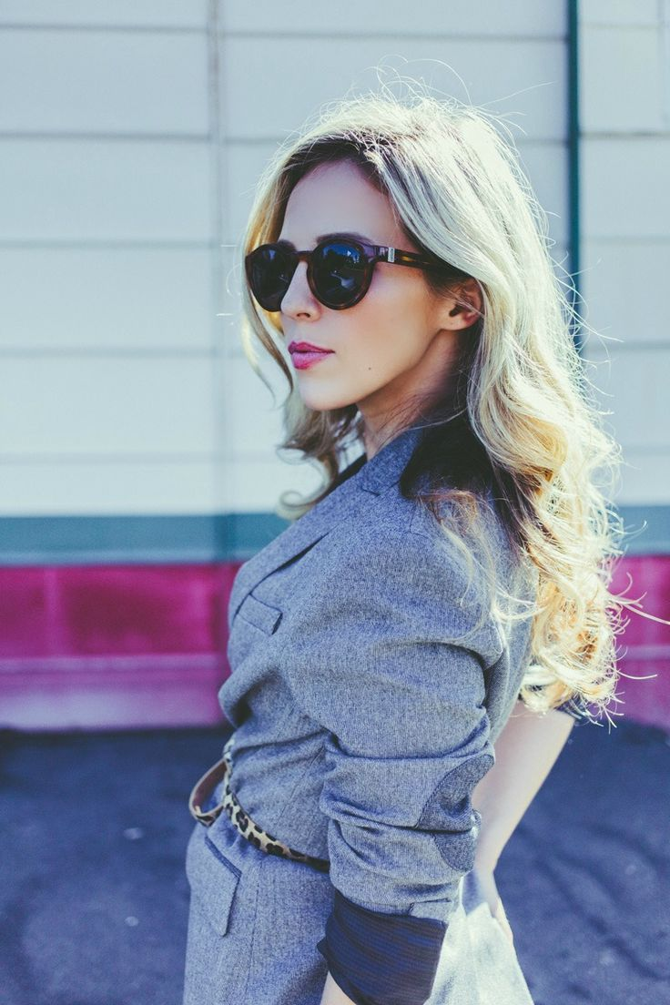 Grey Blazer Outfit by Stephie Vanneste | Photo by Ariana Gillrie