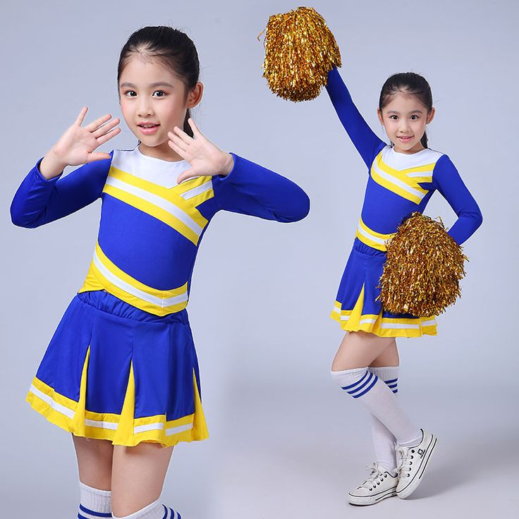 New Competition Cheerleaders Girl School Cheer Team Uniforms Kids Performance Costume Sets Girls Class Suit Girl Rooter Suits