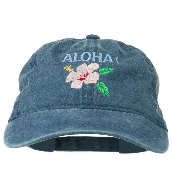 Hawaii Flower Aloha Embroidered Washed Cap Navy C611rnpi5sv Hawaii Outfits Washed Cap Baseball Hats