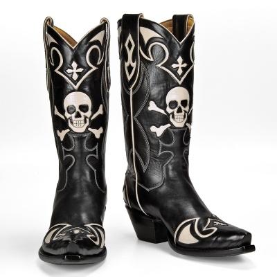 Skull Cowboy Boots