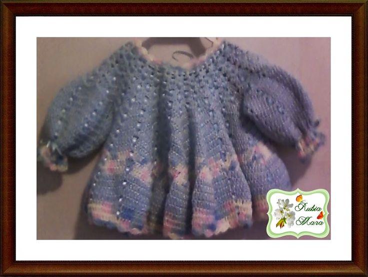 Rubia Artes e Artesanatos: Vestidinho de Crochê