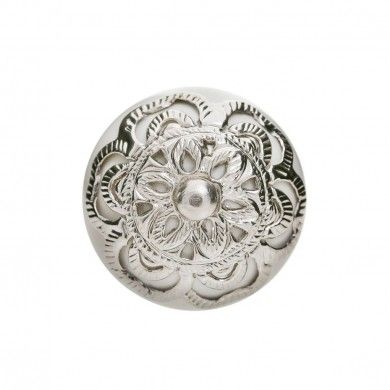 Henna Door Knob with Silver Filigree Cream
