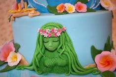 Te fiti cake topper from moana, by Princess Cakes Glasgow