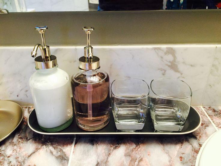 Mouthwash dispenser Lotion dispenser Bathroom Master bathroom