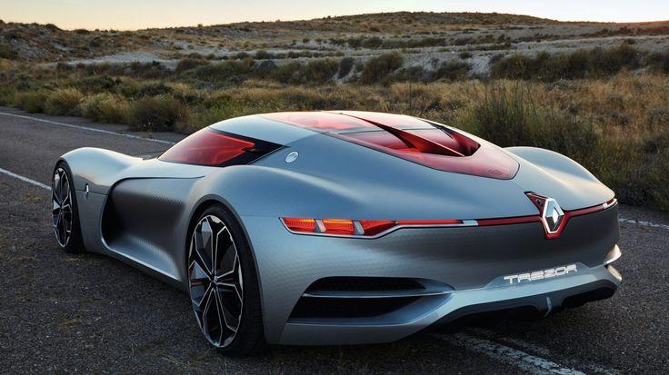 Renault TREZOR Concept ouvre la voie de la sportivité électrique et de la conduite autonome connectée.