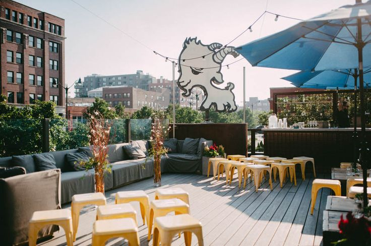 This intimate Chicago rooftop wedding at Little Goat Diner is full of cute and quirky details like gold dinosaur figurines and a Cheez-It wedding cake!