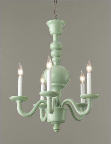 Green milk glass chandelier Love Light my Life