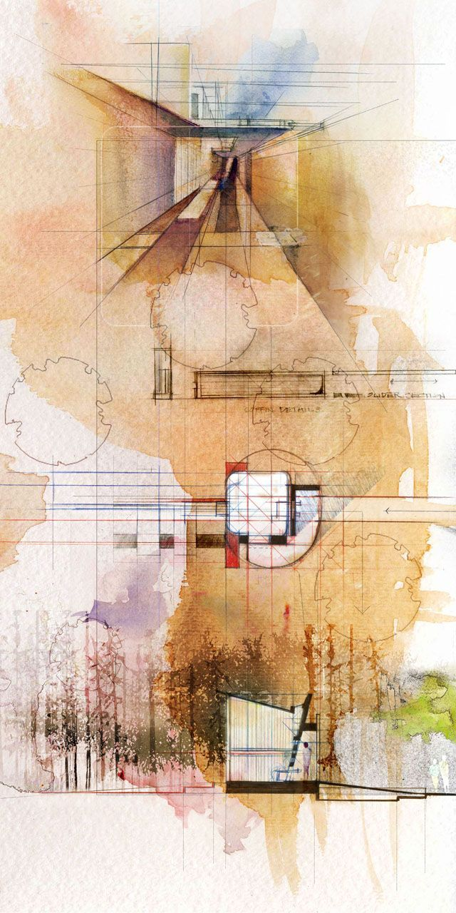Architectural Render - hand drawn/paint or other