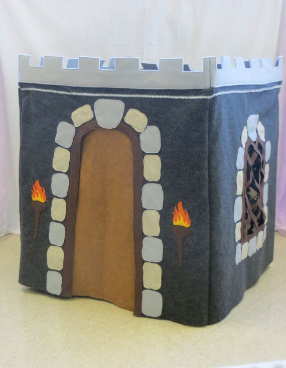 Deluxe Medieval Castle Card Table Playhouse