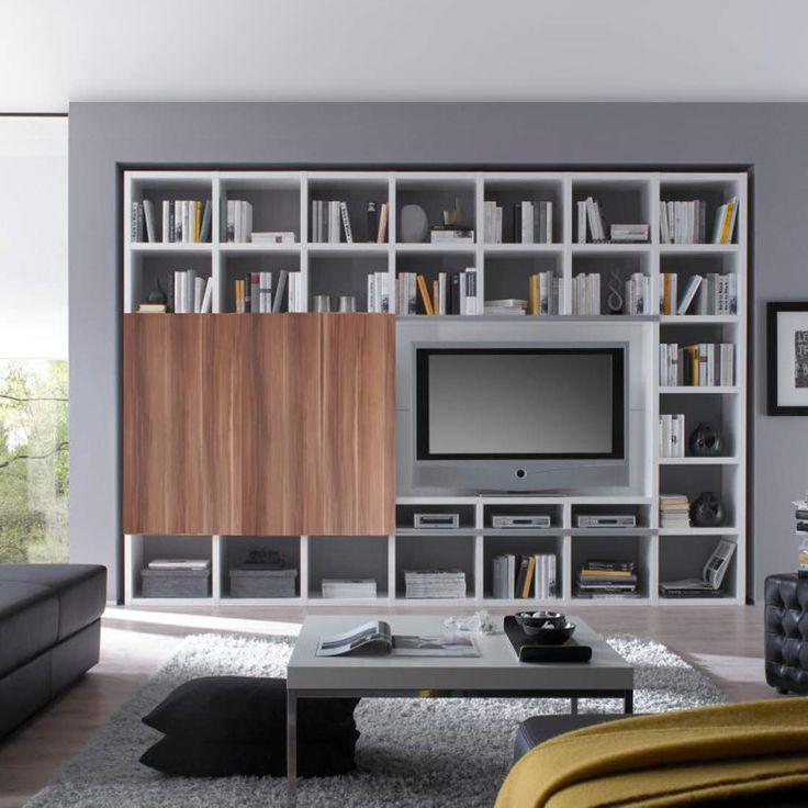 TV-Wand Empire - Hochglanz Weiß / Walnuss Dekor, loftscape Jetzt bestellen unter: https://moebel.ladendirekt.de/wohnzimmer/tv-hifi-moebel/tv-waende/?uid=4e995b55-dbe1-5649-9271-96cf1487be90&utm_source=pinterest&utm_medium=pin&utm_campaign=boards #möbel #wohnwände #loftscape #tvwaende #wohnzimmer #tvhifimoebel