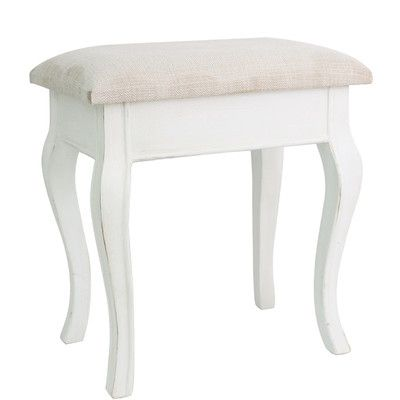 House Additions Upholstered Dressing Table Stool