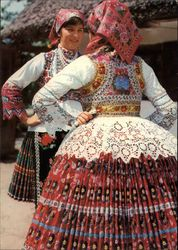 Hungarian regional folk costume from Sióagárd