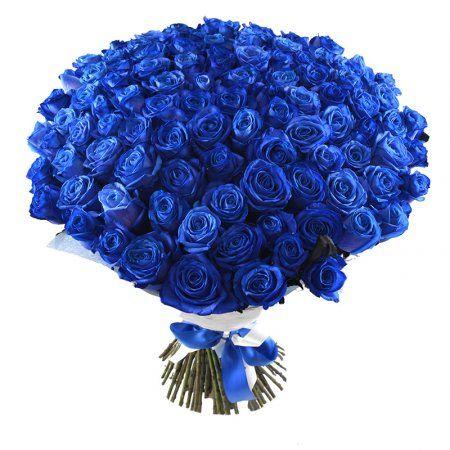 Роскошный букет из 101 синей розы! Это истинное чудо флористики адресовано человеку, который любит неординарные подарки и отвергает стереотипы.