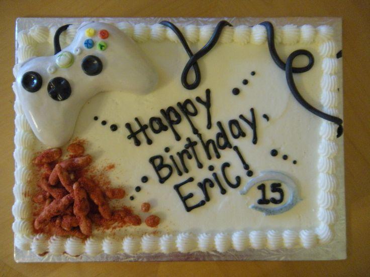 buttercream sheet cake xbox theme - Google Search
