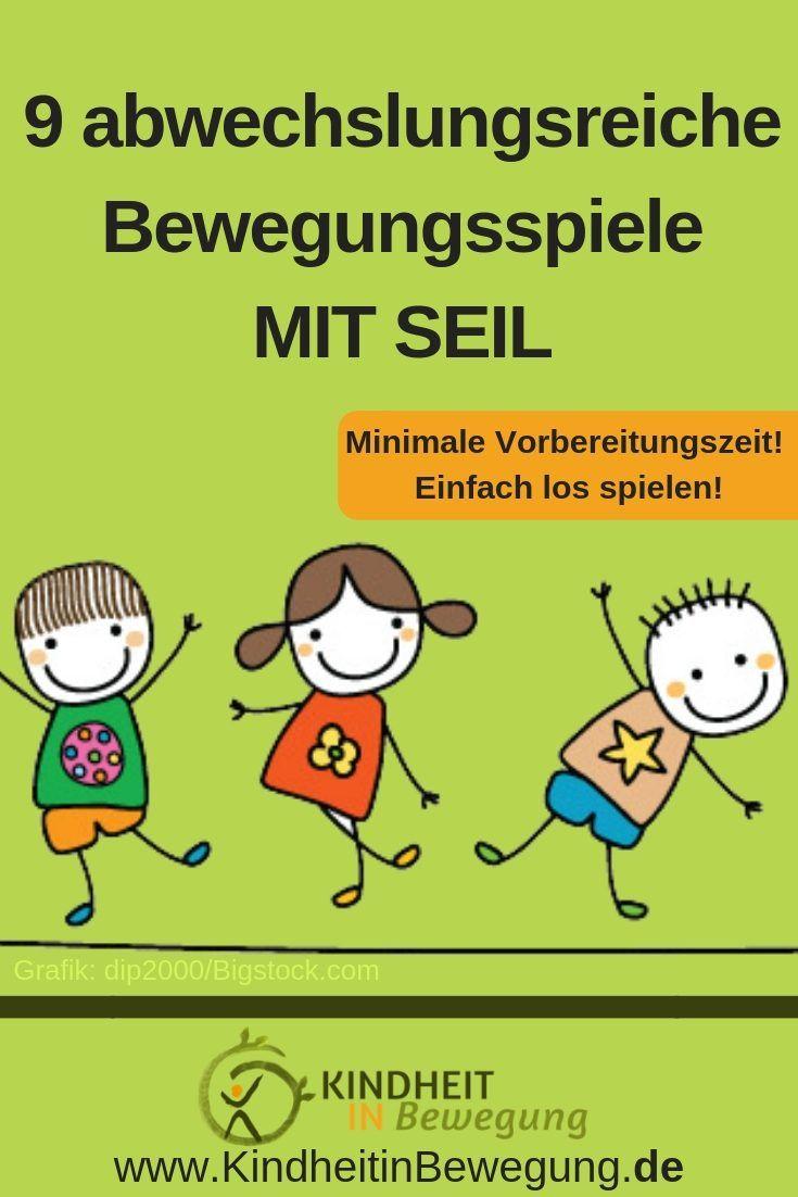9 abwechslungsreiche Bewegungsspiele MIT SEIL für eine Kindheit in Bewegung. Ei… – Kindheit in Bewegung