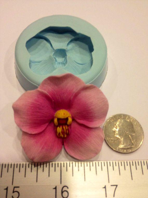 Orchidee GB Mold (Schokolade, Fondant, Gumpaste, Sugarcraft, Kuchen, Hochzeit, Gefälligkeiten, Duschen, Party)