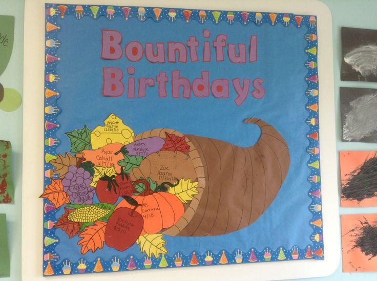 Classroom Door Ideas November ~ Birthday board ideas thanksgiving theme look at what we