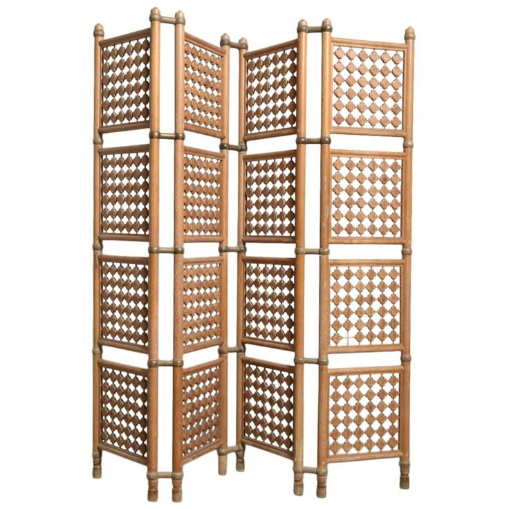 fourpanel danish solid walnut room divider