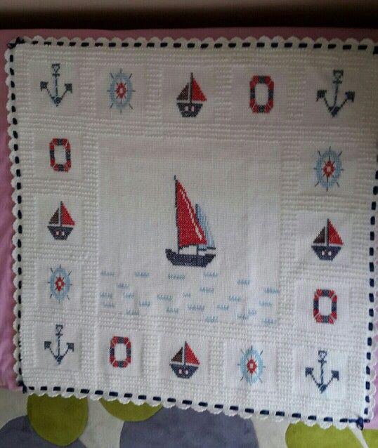 Tunus işi Bebek battaniye/baby blanket