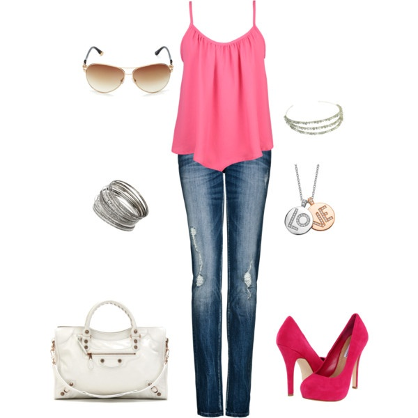 1000+ images about Pink outfits on Pinterest | Game night Cute outfits and Hot pink