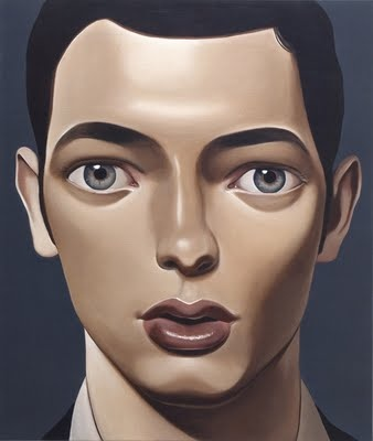 Painting of young male youth, by Peter Stichbury, fine art, oil on canvas.