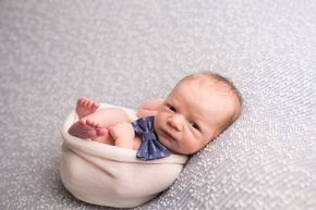 Custom Bow Tie Baby Boy Newborn Photography
