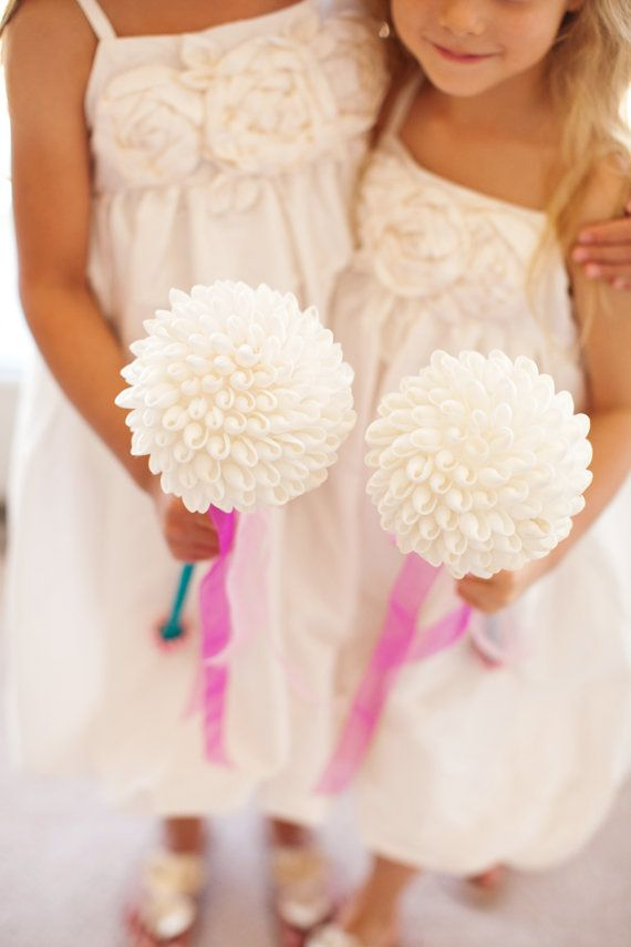 24 best Flower girl flower wands images on Pinterest | Flower girl ...