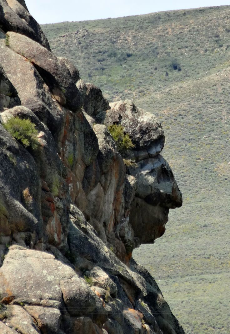 Indian head rock near Gunnison, Colorado.