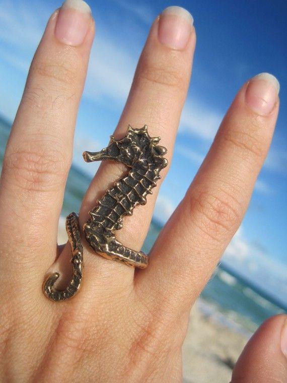 sea horse ring by artformsinnature on Etsy, $55.00