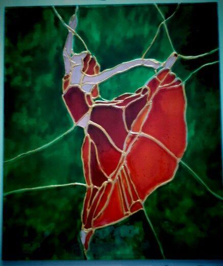 Balerina  Strained-glass