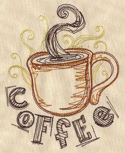coffee - machine embroidery design