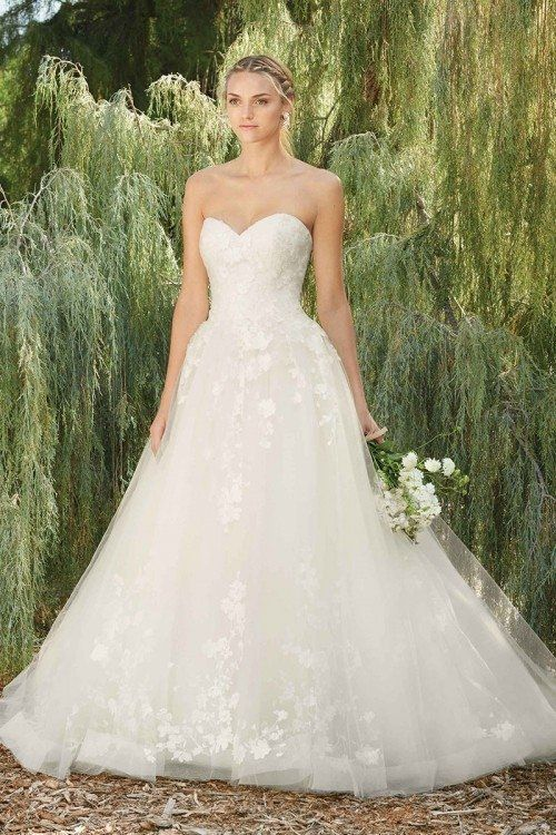 80e98ae352 Whimsical wedding dress idea - a-line wedding dress with strapless ...