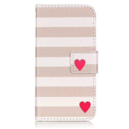 LG K4 Case,LG K4 Leather Case,LG K4 Cover,Flip Wallet case for LG K4,Stripes Patterned PU Leather Stand Function Protective Cases Covers with Card Slot Holder Wallet Book Design Fordable Magnet Closure Case for LG K4