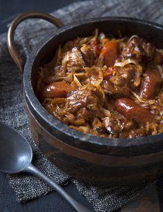 Bigos stew- national dish of Poland (sauerkraut and meat goodness)