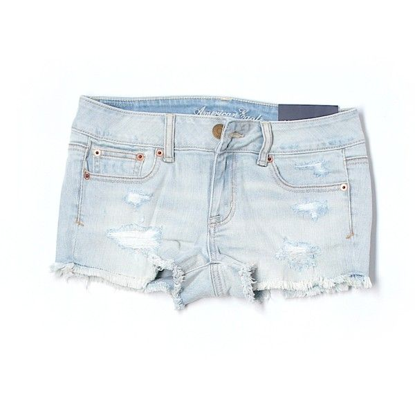 American Eagle Outfitters Denim Shorts ❤ liked on Polyvore featuring shorts, jean shorts, american eagle outfitters, short jean shorts, denim shorts and denim short shorts