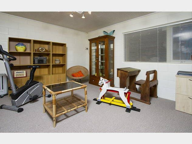 3 bedroom 1960's home @ Porritt Ave, Chatswood. (in Jun 2014) With old school desk from early 1900's and old rocking horse.