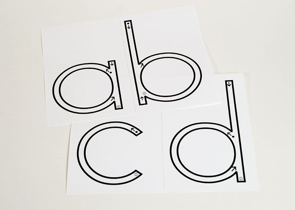 Children love to trace these large letter formations from Blackline Master 5.  My students made rainbow letters!  Reproducible.      $4.98