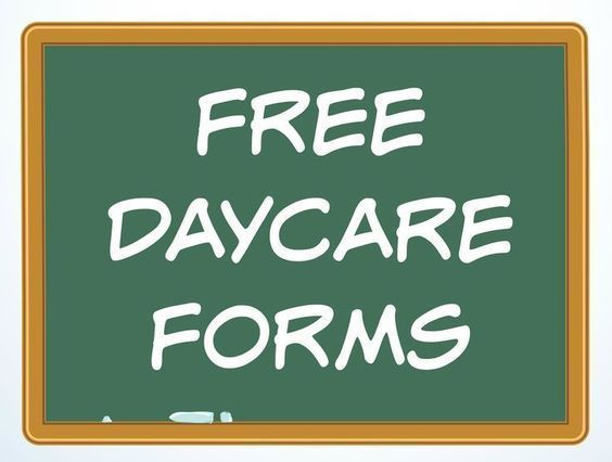 A Variety Of Free Daycare Forms And Sample Documents Needed In Child Care Business