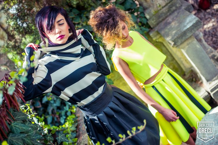 Cool spring outfits from Hihiri www.facebook.com/hihirifashion #hihiri #fashion #style #blouse #skirt #striped #outfit #neon #green #womensfashion #streetstyle #garden #beautiful