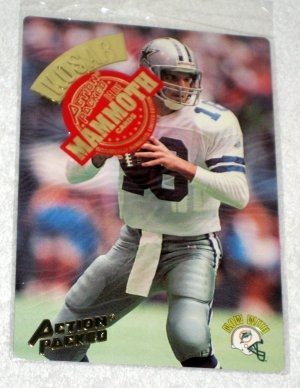 Bernie Kosar Action Packed Football Mammoth Card MM15 Factory Sealed 1994 Cowboys Dolphins #317 $6