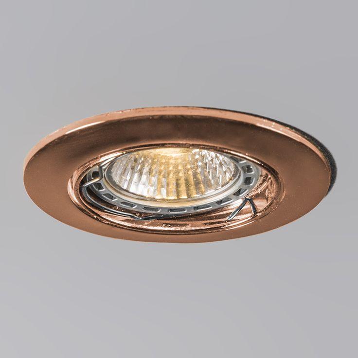 extension spots // Recessed Spotlight Edu Round Copper //