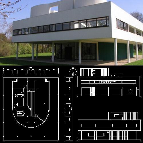 7 best villa savoye le corbusier autocad drawings for Villa plan dwg