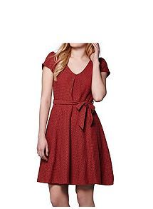 View product Yumi V-Neck Embroidered Dress